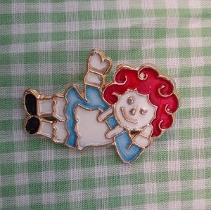 Vintage Raggedy Ann Brooch or Pin by Mamselle